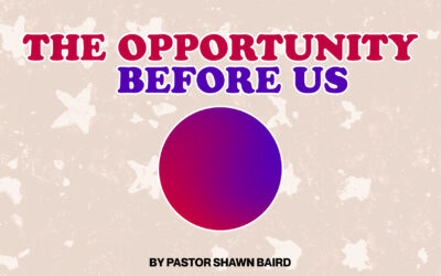 The Opportunity Before Us