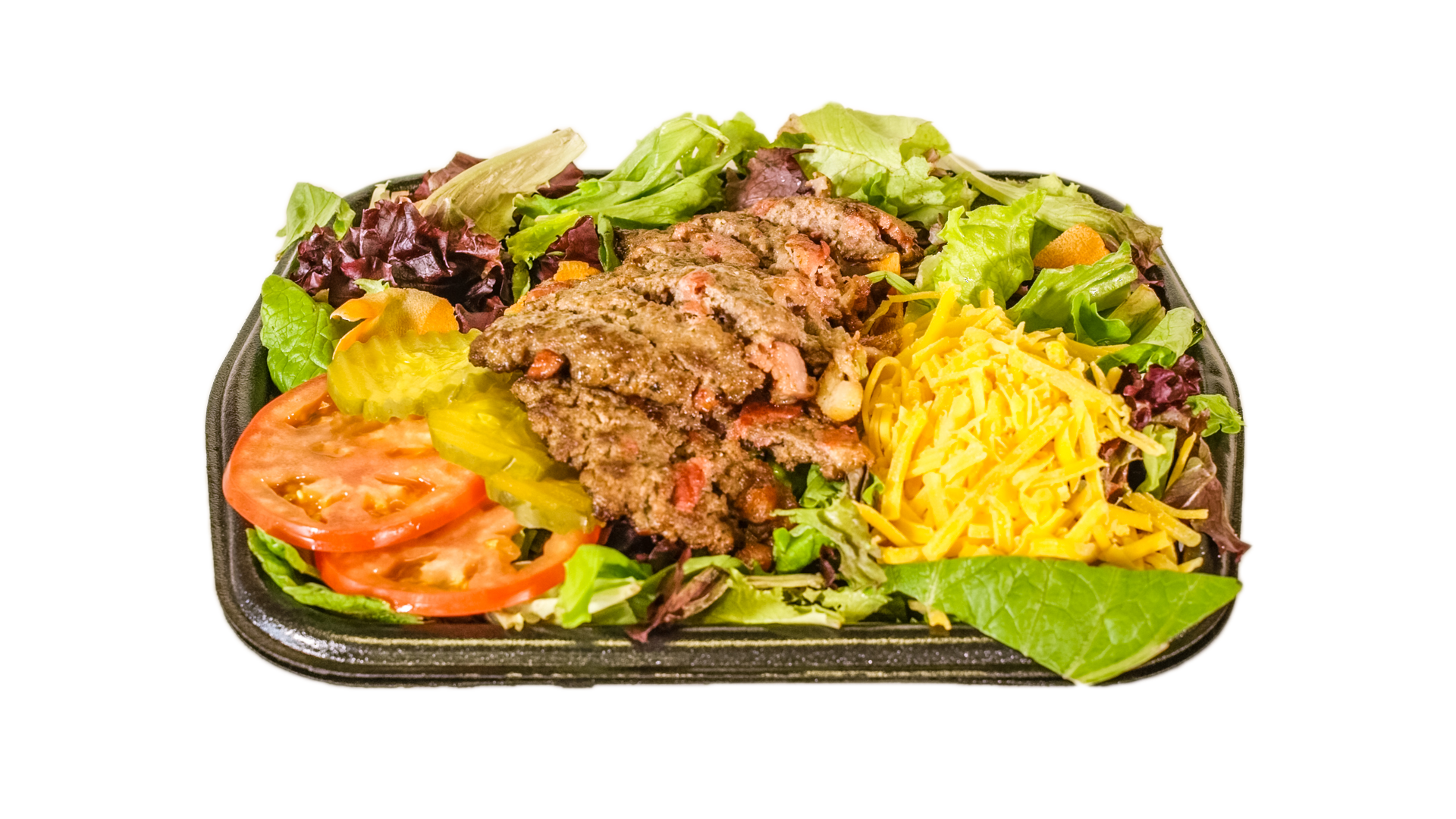 The Station Burger Salad