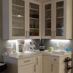 Beverage Center With Under Cabinet Lighting