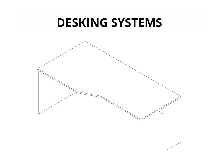 example desking system drawing