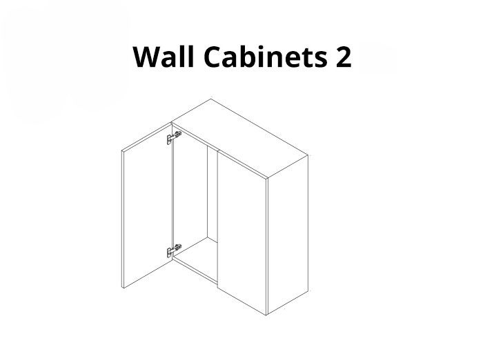 Wall Cabinet with door open