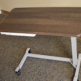 Over-The-Bed Tray With Spill Guard