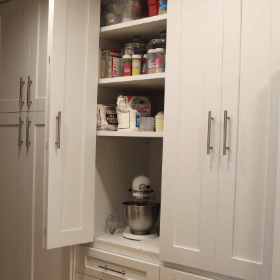 Baking Cuboard With Bi-Fold Doors
