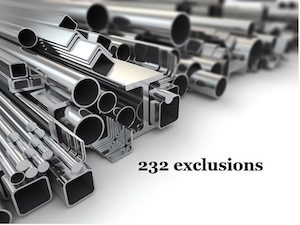 Section 232 Exclusions