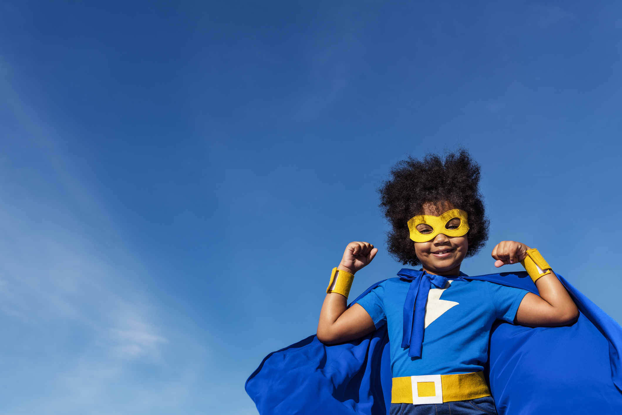 Afro yogi kids super hero