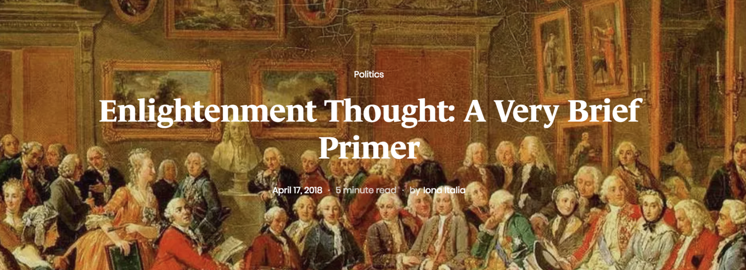 """What is """"Enlightenment"""" Thought?"""