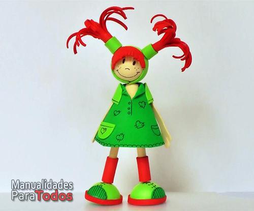 Fofucha Muñeca de goma eva Foamy doll