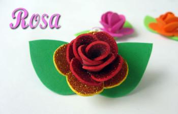 Rosa de goma eva