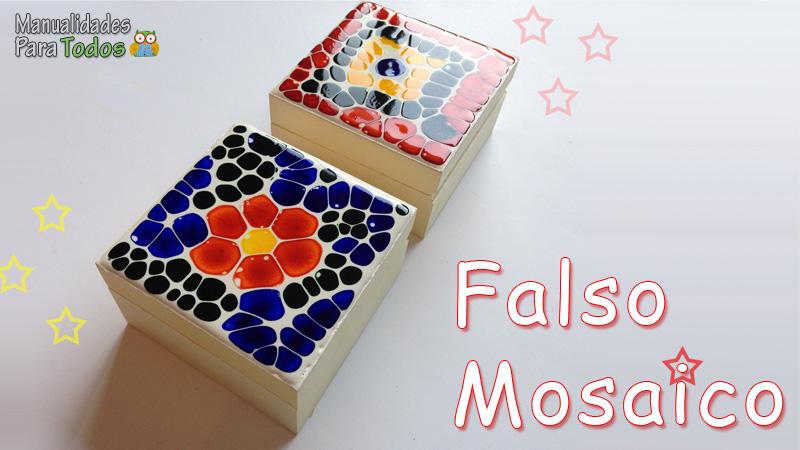 Falso mosaico - manualidadesparatodos.net