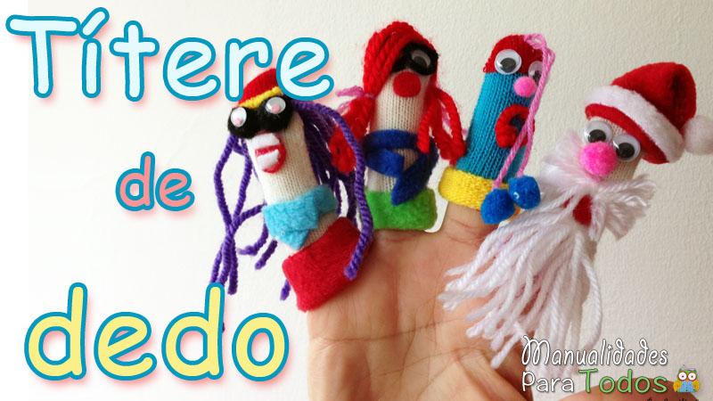 Títere de dedo manualidadesparatodos.net