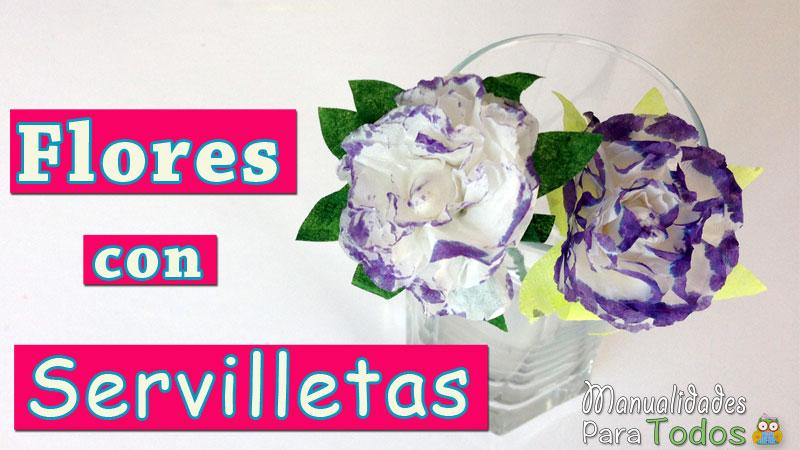 Como hacer flores con servilletas de papel