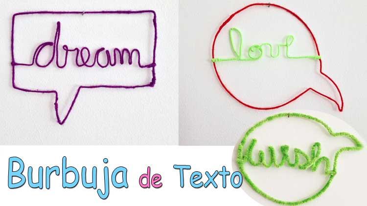 burbuja de texto decorativa