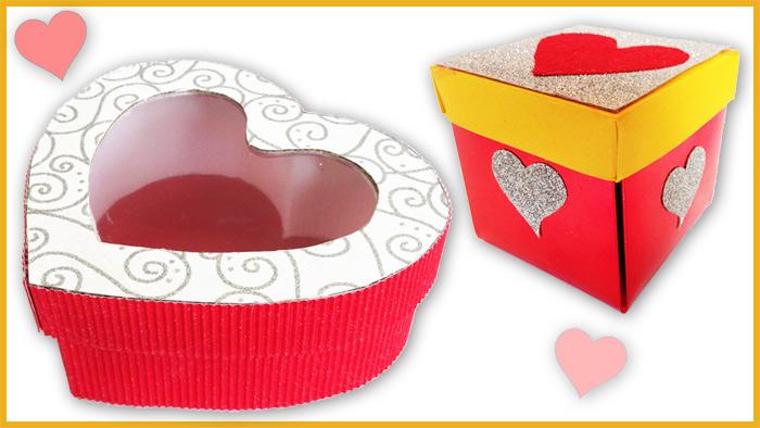 Cajas para regalos de San Valentín