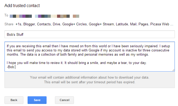Google Inactive Account Manager 3