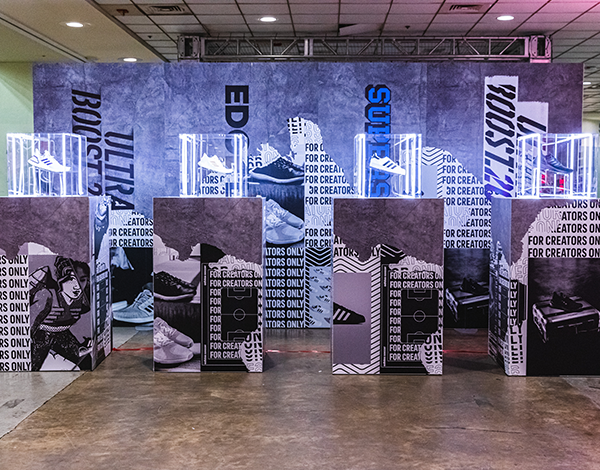 adidas usc baltimore shoe display of cross category product