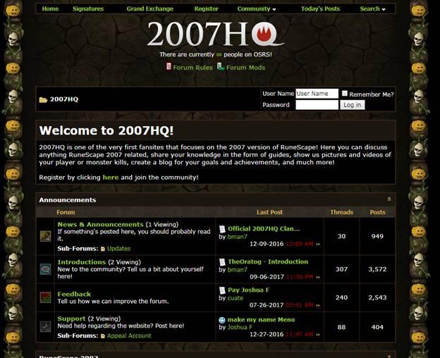 Runescape Forums - 2007HQ
