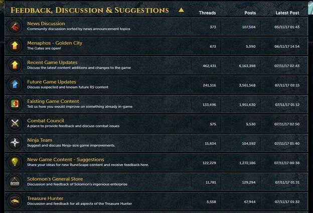 Runescape Forums - Official RuneScape Forum