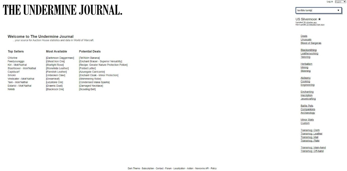 WoW Undermine Journal for Legion