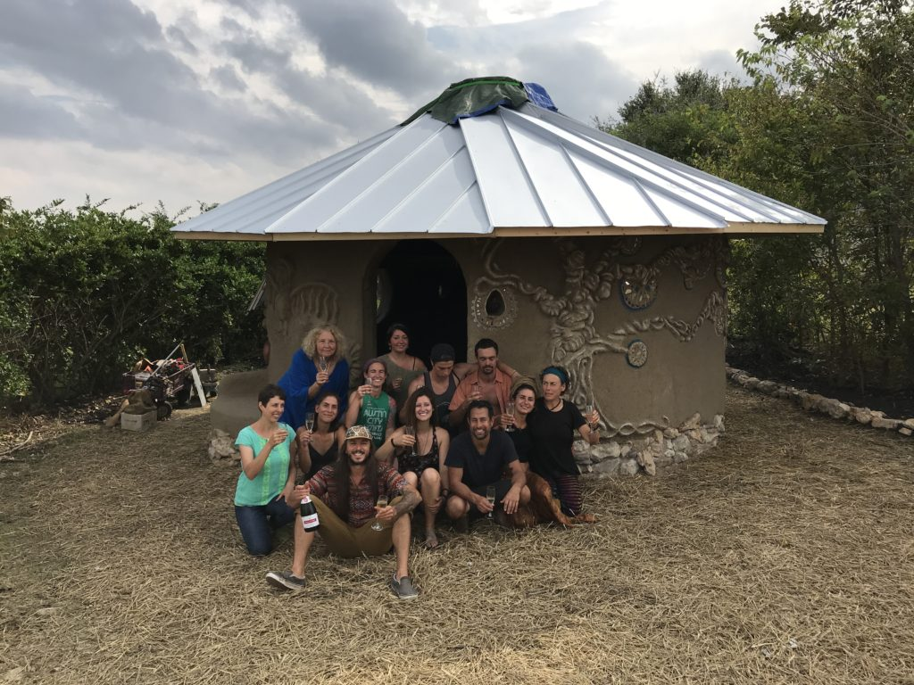 Texas students in Cob Workshops