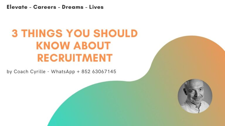The Recruitment Process, 3 Things You Should Know Before You Start