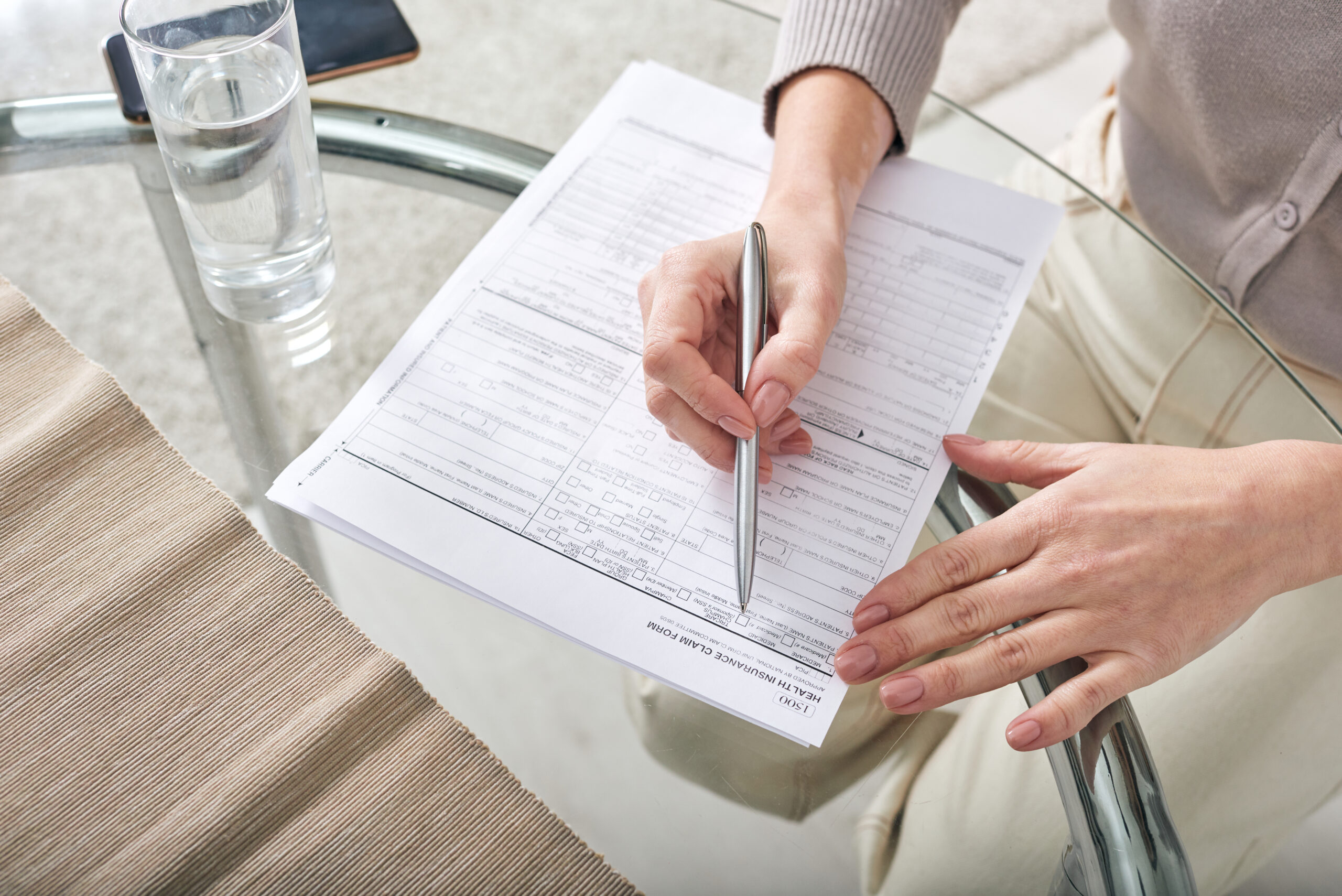 Insurance adjuster referring a client to REHAB AT WORK