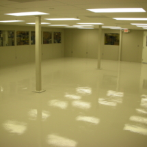 anti-staic esd epoxy flooring in a cleanroom, Falmouith mA.
