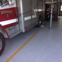 Fire station epoxy floor middleborough, MA.
