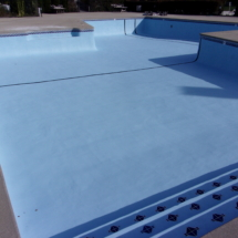 picture of applying pool paint