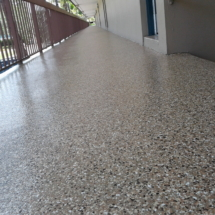 picture of epoxy coating on a Motel walkway color B-517