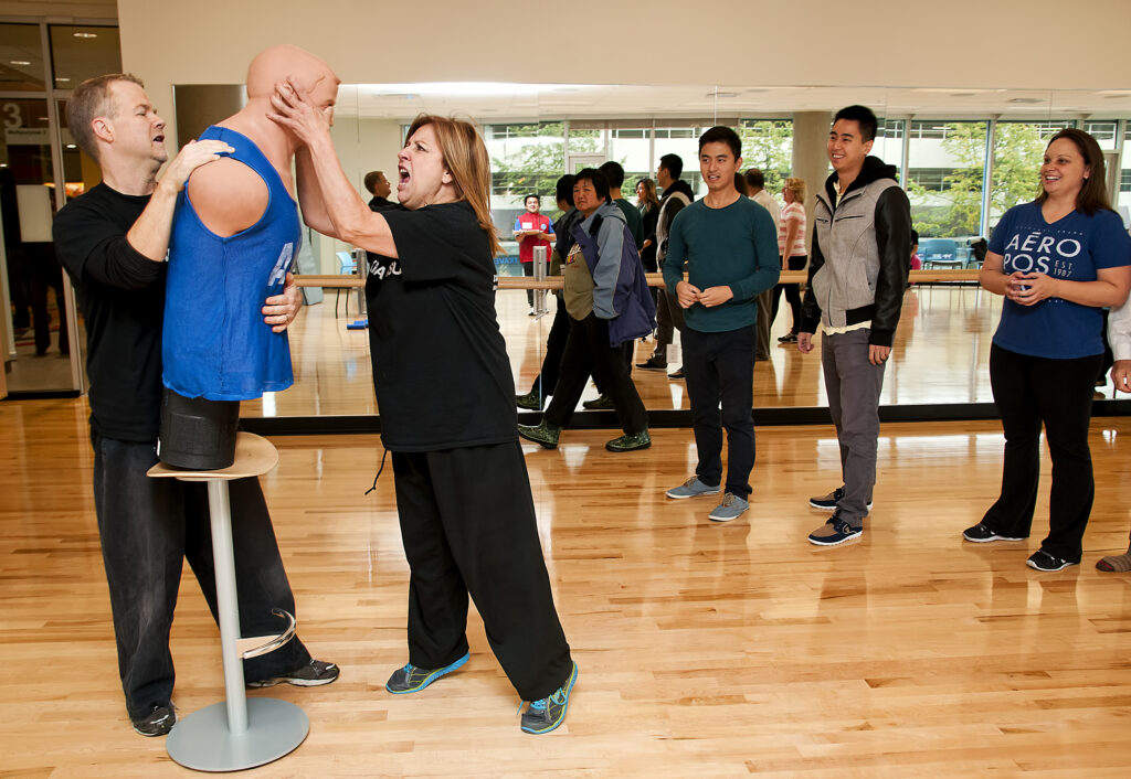 Fitness class for adult programs martial arts