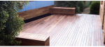 Deck merbau with box seat