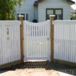 Gate Single Feature Timber recessed with curve top
