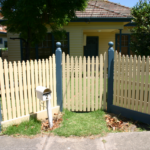 Picket recessed front gate