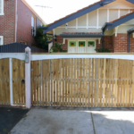 Slide Gate Picket Feature with archboards