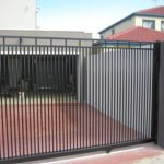 Slide Gate powdercoat tubular alum (dog proof)