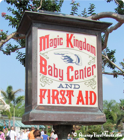 First aid available near the Crystal Palace at Magic Kingdom