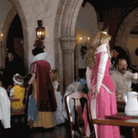 Princess encounters at Akershus Royal Banquet Hall