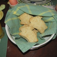Bunny shaped biscuits read to eat!