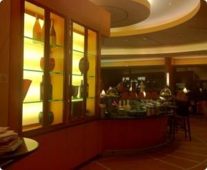 The beautiful bar at the California Grill at Disney