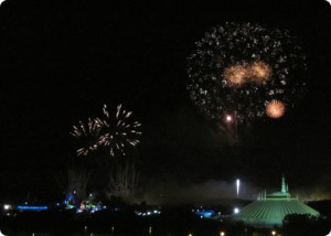 View the Magic Kingdom fireworks from the California Grill