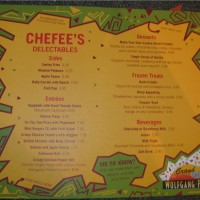Kid's menu at Wolfgang Puck Cafe in Downtown Disney