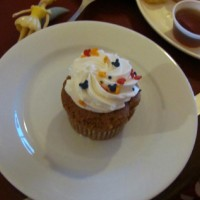 Allergy-free cupcake at Chef Mickey's