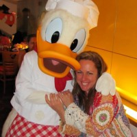 Donald and Liz at Chef Mickey's