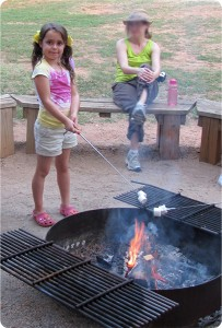 S'mores at Girl Scout camp