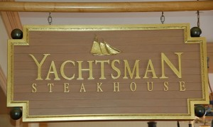 The Yachtsman Steakhouse sign