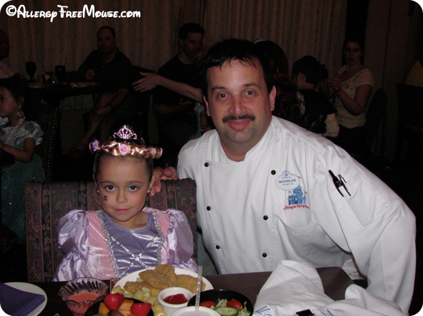 Chef Nicholas at Cinderella's Royal Table