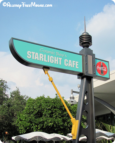 Cosmic Ray's Starlight Cafe with food allergies