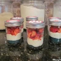 "4th of July ""Liberty in a Mason Jar"" dessert"