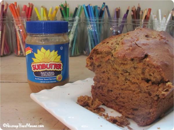 SunButter Bread nut-free, dairy-free recipe