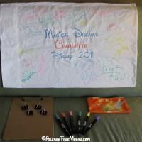 Pillow case autograph kit